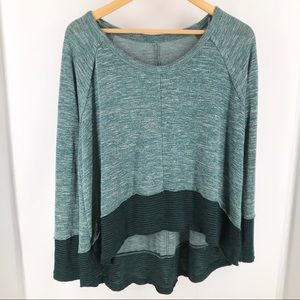 Free People We The Free Teal Long Sleeve Top